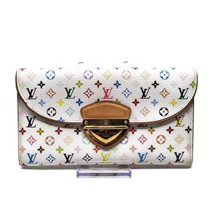 Auth Louis Vuitton Trifold Multicolor Wallet